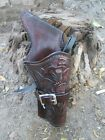 D.A.D CUSTOM LEATHER Hand Tooled leather Western Holster  Cross Draw