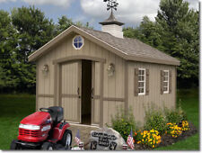 Cambridge1012 Best Barns 10x12 ft Pre-built Pre-Cut Storage Wood Shed Barn Kit