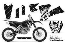AMR Racing KTM SX/SXS/EXC/MXC Number Plate Graphic Kit MX Bike Decals 03-04 RD W