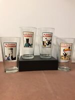 GUINESS PUB GLASSES SET OF 4 PINTS 16oz. Old Style Graphics. Excellent Shape