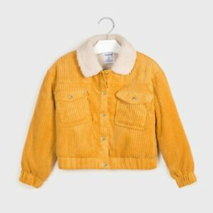 New Girls Mayoral Corduroy And Wool Jacket , Age 8 Years , (7407)