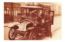 Nostalgia Postcard c1912 Travelling Tinker with a 1906 Renault Repro Card NS26