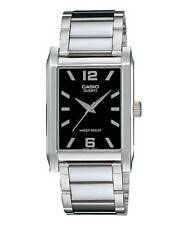 Casio MTP1235D-1A Men's Enticer Stainless Steel Rectangular Black Dial Watch