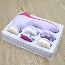 NEW 5 in 1 Electric Spin Face Body Cleansing Brush Massager Cleaner Set
