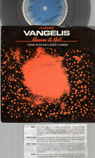 """VANGELIS - HEAVEN & HELL - COSMOS TV SERIES THEME 1975 BBC 7"""" UK  P/S -EXC"""