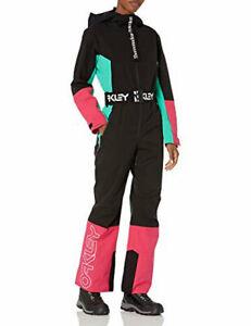 Oakley Women's TNP Cassia ONE Piece Black Mint Pink XL Snow Suit - New