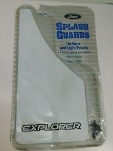 1991-94 Ford Explorer OEM Splash Guards Mud Flaps White Factory New F1TZ16A550B