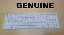 Genuine Toshiba Satellite C855 C850D C850 C855D L850 White UK Keyboard ORIGINAL