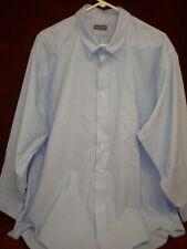 """EUC-Van Heusen Mens Regular Fit Blue Oxford Long Sleeve Dress Shirt-18.5""""(36/37)"""