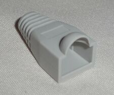 10 x RJ45 Boot Cover for PLUG Connector Network Cable cat5e ethernet  Light GREY