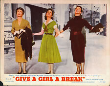 GIVE A GIRL A BREAK orig 1953 lobby card poster DEBBIE REYNOLDS/MARGE CHAMPION