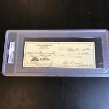 """Pete Maravich """"Pistol Pete"""" Signed Handwritten Original 1986 Check PSA DNA COA"""