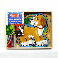 Pets Lacing Wooden Boards Lace and Trace Melissa and Doug Threading Sewing 3+