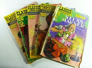 Gilberton CLASSICS ILLUSTRATED #55 57 64 75 84 READER Lot WHITE FANG Ships FREE!