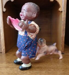 """Rare Mint 1940's Vintage MADE IN OCCUPIED JAPAN """"Poor Pete"""" celluloid windup toy"""