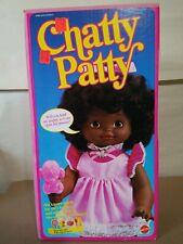BLACK CHATTY PATTY DOLL NEW IN BOX  MATTEL   # 7024