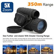 6X50 Digital IR Night Vision Monocular 350m 5xZoom Hunting Camera Video Recorder