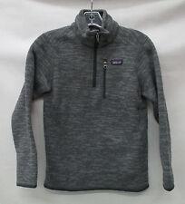 Patagonia Boys/Kids Better Sweater 1/4 Zip Pullover 65705 Nickel Size Medium