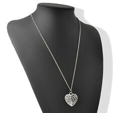 Wholesale Family Member Gift Silver Mother and daughter Forever Heart Necklace