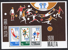 Malta Stamps 1978 - Football World Cup - ARGENTINA - 28c Miniature Sheet MS604
