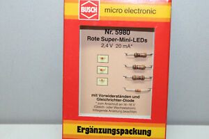 Busch 5980 Rote-Super-Mini-Led´S Gauge H0 Boxed