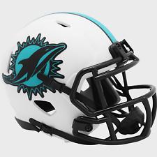 Miami Dolphins Nfl Riddell Speed Mini Football Helmet Lunar Eclipse