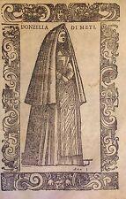 Flemish Region/ Flandes. Donzella di Meti. Xilografía original .Vecellio, 1590