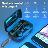 Latest Upgrade Bluetooth 5.0 True Wireless TWS Stereo Earbuds with Charging Case