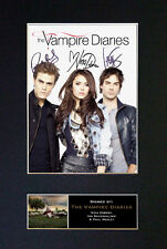 THE VAMPIRE DIARIES Top Quality Signed Mounted Autograph Photo Print (A4) No348