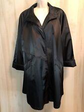 RZR Weatherwise Women's Size 13/14 Half Trench Rain Coat Jacket Black New