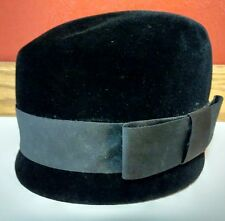 Black Velvet Hat Cotillion France Pouge's Cincinnati