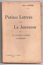 JEAN D'UDINE LETTRES SUR LE JUGEND-ALBUM DE SCHUMANN 1904 DEDICACE MUSICOLOGIE