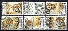 Animaux Félins Cambodge (148) série complète 6 timbres oblitérés