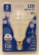 Aigostar LED A6 E14 9w = 70w Equiv Daylight White 6400k Light Bulb Lamp