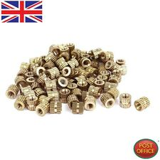 (M3x5mm (L) -5 mm (OD) Métrico tuercas de inserción roscada de latón Selectora Redondo 100 un. G4J8