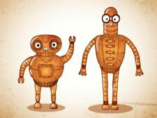 Robot Cartoon Art Posters