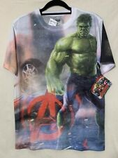 Avengers Age Of Ultron Incredible Hulk T-shirt Small Two Side Graphic Marvel NWT