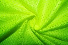 Neon Green #10 Athletic Sports Mesh Knit Polyester Football Jersey Fabric Bty