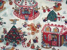 El aclaramiento FQ ratones Navidad Muñeco De Nieve Festivo Tela de casa de pan de jengibre dulces