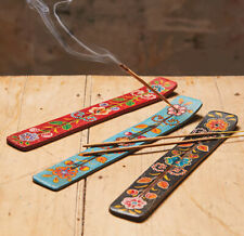 BOHO HAND PAINTED WOODEN INCENSE HOLDER
