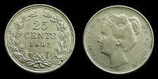 Netherlands - 25 Cent 1902