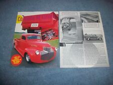 """1941 Chevy Pickup Truck Custom Vintage Article """"Comedy of Errors"""""""