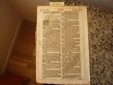 "(Bible Leaf) Leaf from the King James ""She"" Bible, printed in 1613.    #14-331"