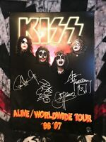 KISS Alive/Worldwide Tour '96 '97 Metal Sign Official Item Simmons Stanley Criss