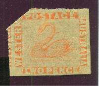1860 West Australien Britische Kolonie Mich Nr. 6 Aa . 2 P a / 8-14 / orangerot