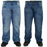 New Mens Jeans Straight Leg Denim Designer Zip Fly Trousers Pants Big Tall Sizes