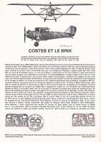 Document Philatélique Timbre 1er Jour : 12/09/ 1981 - Avion Costes & le Brix