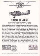 Document Philatélique Timbre 1er Jour : 12/09/ 1981 - Avion Costes & le Brix