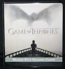 2016 Rittenhouse' Game of Thrones' Season 5 OFFICIAL TRADING CARD BINDER / ALBUM