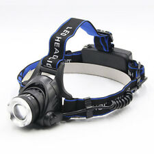 Torcia Lampada Frontale Da Testa LED Ricaricabile CREE XM-L T6 Luci per Pesca